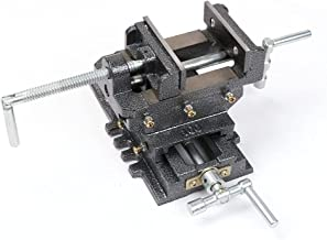 """4"""" 100mm Cross Slide Vice 2 Way Drill Press Bench Vise Clamp"""