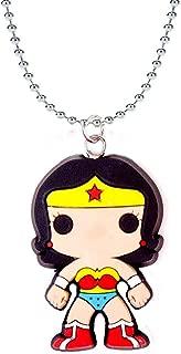 Wonder Woman Funko Pop Heroes Chain Rubber Pendant Necklace