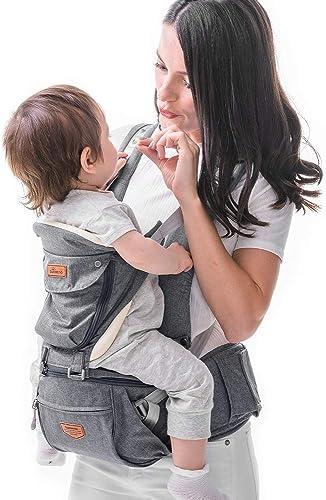 Porte-bébé Ergonomique avec Siège de Hanche- SUNVENO Porte-bébé Randonnee avec Sangle Amovible,Porte-bebe Physiologiq...