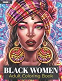 Black Women Adult Coloring Book: Beautiful African American Women Portraits | Coloring Book for Adults Celebrating Black and Brown Afro American Queens | For Stress Relief and Relaxation