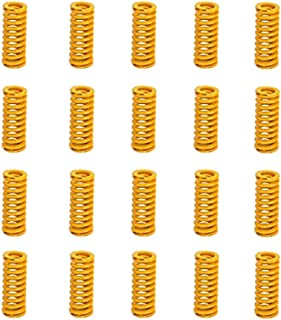 FYSETC 3D Printer Springs of Platforms Accessories 0.31 in OD 0.98 in Length Compression Light Load for Creality CR-10 10S Pro S4 S5 Heatbed Bottom Connect Leveling 8PCS