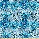 Lunarable Dahlien-Blumen-Stoff von The Yard, Grungy