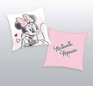Herding Disney - Cojín (40 x 40 cm, poliéster), diseño de Minnie Mouse, Color Rosa y Multicolor