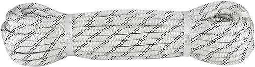 YYHSND Corde d'escalade Corde Statique diamètre 8 10 mm Longueur 10 20 30 40 50 60 80   100m Noir Blanc Corde d'alpinisme (Couleur   A, Taille   12MM 40M)