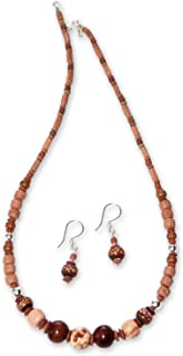 925 Sterling Silver Beaded Jewelry Set 'Land of the Inca'