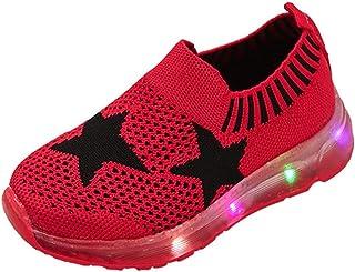 Kinlene Enfants Chaussures Blanches LED Clignotant Chaussures éClairage Chaussures Baskets Bottes Courtes Enfants BéBé BéB...