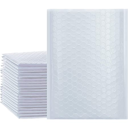 UCGOU 6x10 Inch White Bubble Mailers Poly Waterproof Padded Shipping Envelopes Self Seal 25pcs