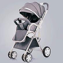 YXCKG Cochecitos de bebé, Sillita de Paseo reclinable Convertible, Carro de Cochecito Plegable y portátil Cochecito para niños Jogger Travel Buggy Cochecito Paraguas Bebé (Color : Gray)