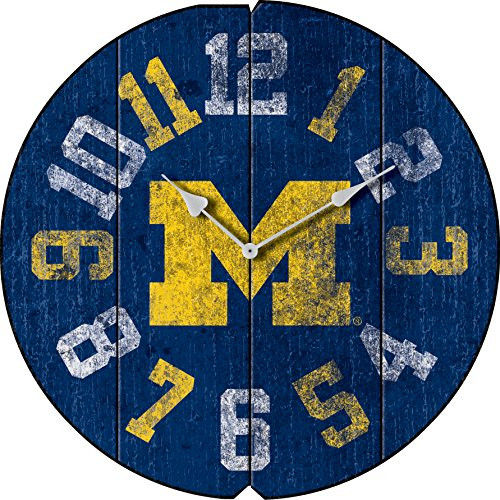 Imperial Officially Licensed NCAA Merchandise: Vintage Round Clock, Michigan Wolverines