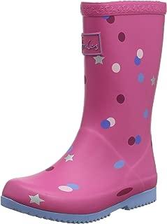 Girl's Printed Welly Rain Boot (Toddler/Little Kid/Big Kid) Pink Star Confetti 1 Little Kid