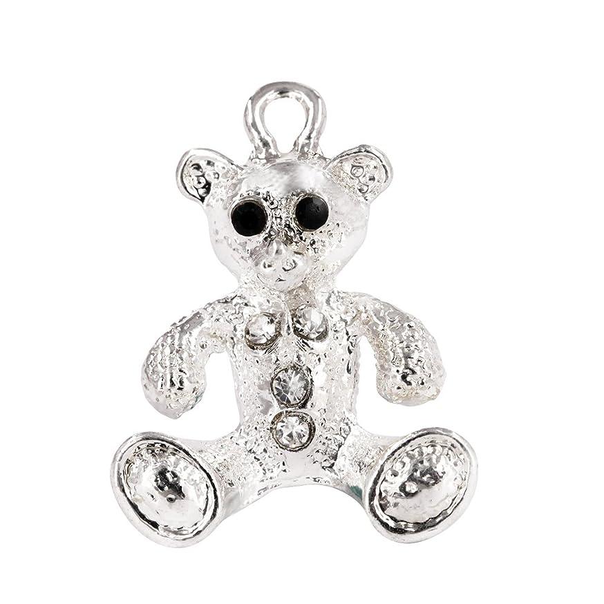 Creative DIY Cute Teddy Bear Crystal Charms Pendants Wholesale (Set of 3) MH194