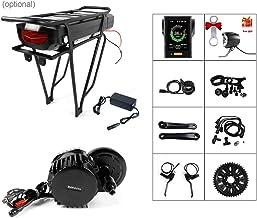 Electric Bike 48V/52V 1000W Ebike Motor Kit BAFNAG Mid Drive Motor Conversion Kit with 48V 17.5Ah Rear Rack Battery and Ch...