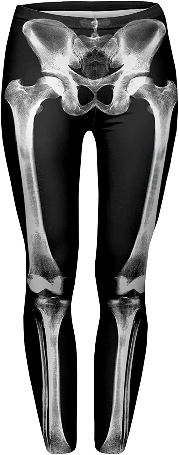 Alive Women's Digital Print High Waist Stretchy Ankle Sexy Leggings Tights