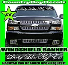 Its Dirty Because I Play With It 4x4 JDM Car Sticker Decal 8L Racing Truck Wall Laptop Windshield Muddin