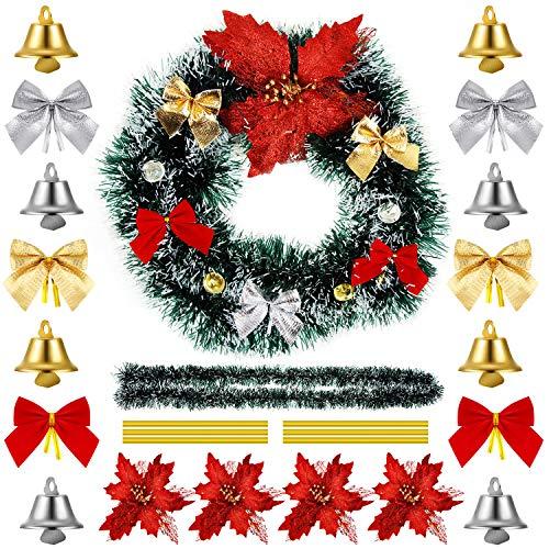 WILLBOND Guirnalda Pino Artificial Navidad 36 Lazos