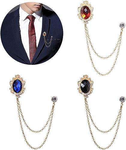 VALICLUD 3 Unids Collar Decorativo Pin de Seguridad Broche con Cuentas Vintage Cardigan Su/éter Alfileres Pin de Solapa Grande Su/éter Chal Clips para Mujeres Ni/ñas