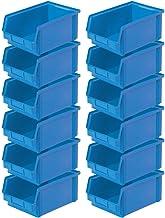 "12 cajas transparentes""Classic"" FB 3Z, 350 x 300 x 200 x 145 mm, contenido 8,7 L, color azul"