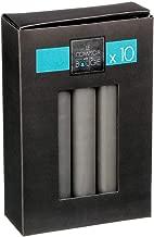 Combustion 40 Heures Combustion 50 Heures 14X7 10x7 cm 345g Couleur Gris UDC Lot de Deux Bougie Cylindre Paillettes + 475g