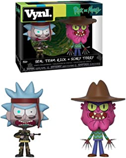 Funko Figure Vynl Morty Seal Rick and Scary Terry, Multicolor