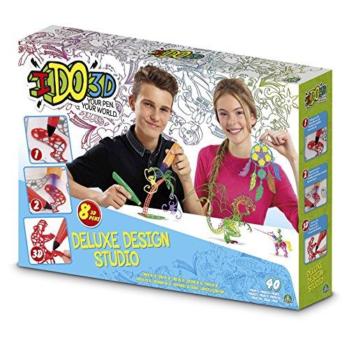 IDO3D - Kit per creazioni con pennarelli 3D Deluxe Design Studio