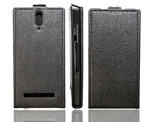 caseroxx Flip Cover für Mobistel Cynus T8, Tasche (Flip Cover in schwarz)