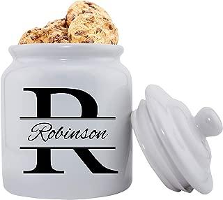 Personalized Ceramic Cookie Jar - Stamped Design