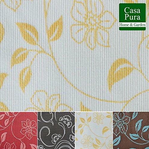 casa pura Nappe rectangulaire Anti Tache Tissu imperméable | Lavable | Interieur ou extérieur | Bianca - Blanche, 130x160cm