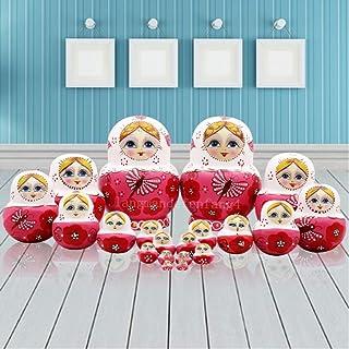 Nesting dolls دمى التعشيش 10PCS لطيف حية كبيرة البطن شكل الدمى خشبية الدمى matryoshka دمى دمية العملي الفكري