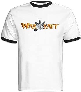 CHALZ Men's World Of Warcraft Logo 100% Cotton T-shirt