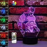 3Dナイトライトビジュアル ライト 間接照明 テーブルランプ インテリア照明 LED ナイトライト 保育園 ランプ 子供部屋 ホームデコレーション クリスマス 誕生日プレゼント 7色変化(2個 アクリルパネル スーパーマン&ペガサス)