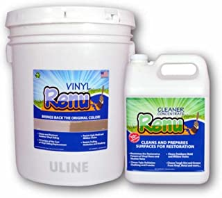 Vinyl Renu 5 Gallon-Siding Restoration Kit Restores Color and Sheen to Faded Vinyl & Aluminum Siding. No-Mess Alternative to Paint. Lasts 10 Years. Faded Hardie Board, Stucco, Fiberglass Too!