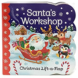 santa's workshop lift a flap book, gifts for baby's first christmas