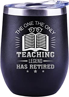 Retirement Gifts For Teachers, Men Women Coworker Friend Assistant Mug Cup Wine Glass