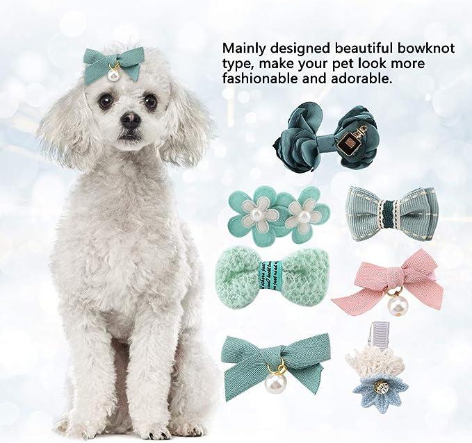 Kleine Hundehaarschleifen Gemischte Stile 1,6 x 0,9 Zoll Gummiband ...