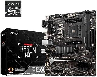 MSI B550M PRO ProSeries Motherboard (Support 3rd Gen AMD Ryzen, AM4, DDR4, PCIe 4.0, SATA 6Gb/s, M.2, USB 3.2 Gen 1, HDMI/...