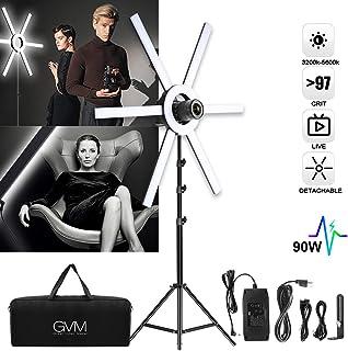Luz de Relleno de Anillo LED GVM 600S luz de Anillo Regulable de Doble Color de 90 vatios con Soporte Barra de luz extraíble luz de Video CRI 97+ 3200K-5600K para cámara de Video Youtube Selfie