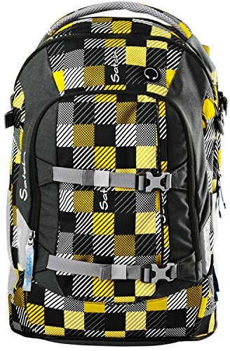 Satch Schulrucksack Pack Karo Gelb-Grau 940 karo gelb grau