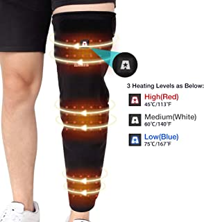 ARRIS Full Leg Heated Wrap - Electric Heating Pad for Knee, Calf, Thigh, Leg, Arm - 7.4V Battery Powered Heat Brace for Increasing Circulation, Relieve Joint, RheumaticArthritis Pain, for Men Women