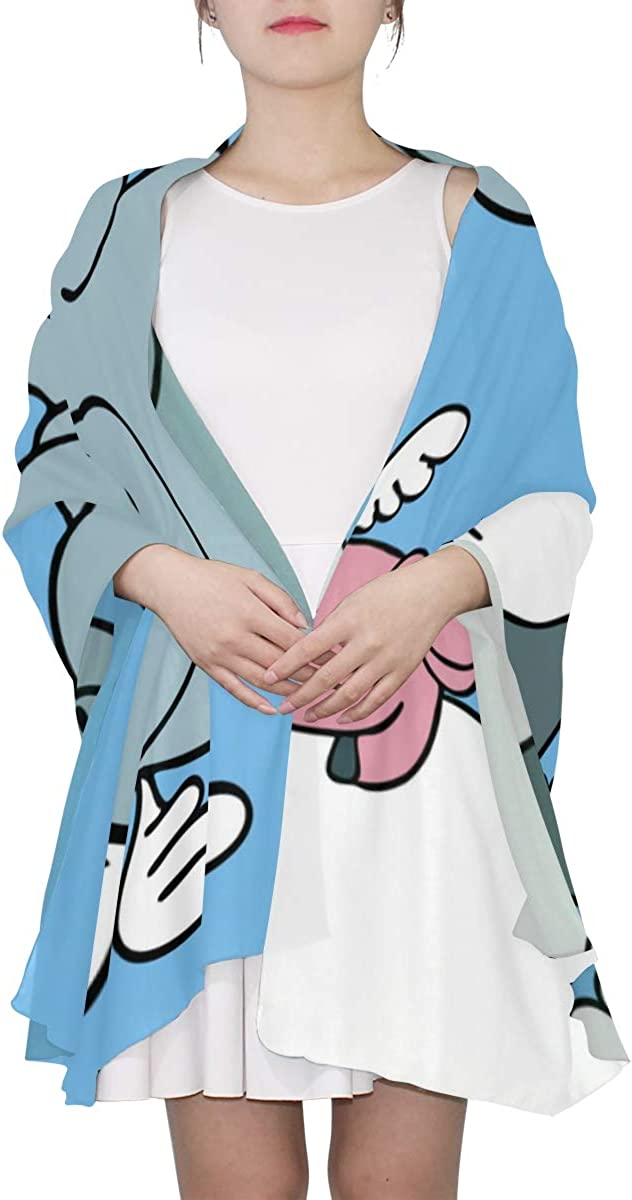 A Cute Baby Elephant Floating Unique Fashion Scarf For Women Lightweight Fashion Fall Winter Print Scarves Shawl Wraps Gifts For Early Spring