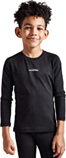 COOLOMG Boys Girls Thermal Compression Shirt Long Sleeve Fleece Lined Baselayer Tops Soccer Hockey