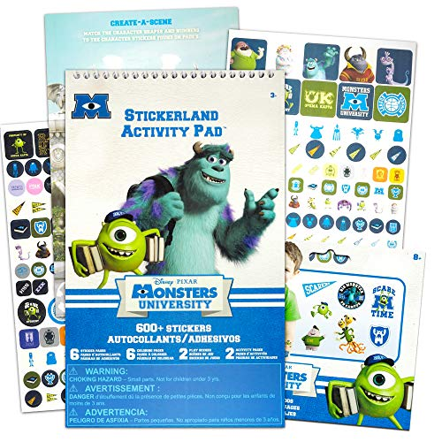 Monsters Inc Stickers and Temporary Tattoos Party Favors Activity Pack -- 300 Monsters Inc Stickers, 25 Tattoos, 10 Coloring Sheets and More (Party Supplies)