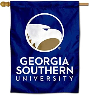 College Flags and Banners Co. Georgia Southern Wordmark Logo Double Sided House Flag