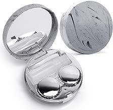 Contact Lens Box Cute Contact Lens Travel Case Contact Lens Case Container Holder Storage Box Portable Contact Lens Travel Kits Cute Mini (Silver)
