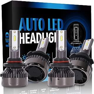 ECCPP 9005+9006 LED Headlight Bulb Super Bright Cree White Auto Headlamp Conversion Kit High Low Beam - 16000Lm 160W 6000K Focus Light - 1 Year Warranty(Pack of 4)