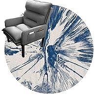 チェアプロテクター オフィスチェアカーペット用フロアマット、オフィスチェアマット、フローリングに最適、移動しやすい椅子、コンピューターデスクマット、ラウンドカーペット(Size:180cm(70in),Color:A)