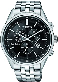 CITIZEN Mens Solar Powered Watch, Analog Display and Stainless Steel Strap AT2140-55E