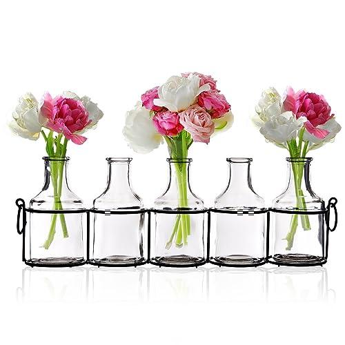 SMALL MINI BUD VASE CUT GLASS VINTAGE GOOD CONDITION
