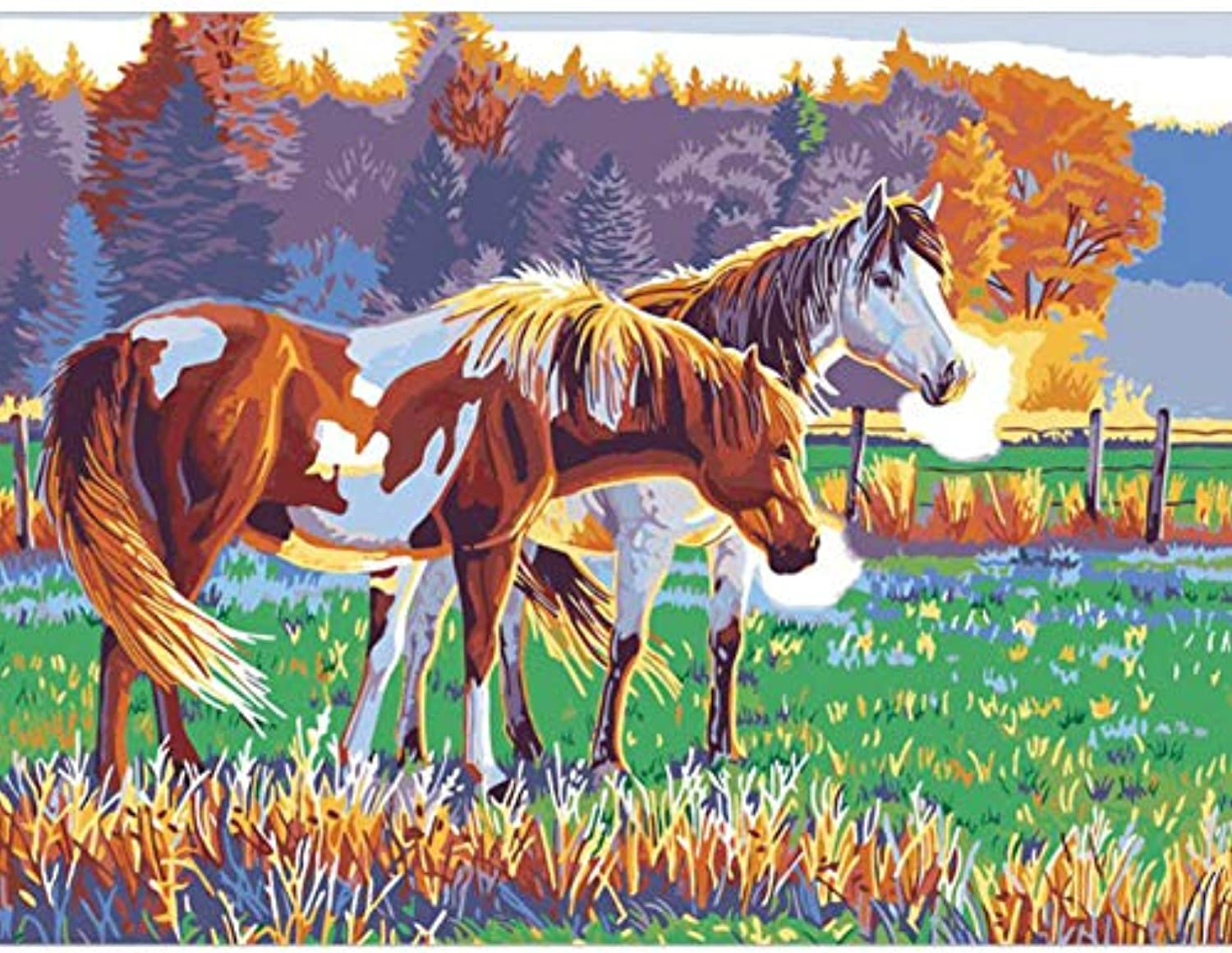 Jigsaw Puzzle 1000 Piece 3D Puzzle Animal Horse DIY Kits for Wall Art Picture for Living Room 75X50Cm
