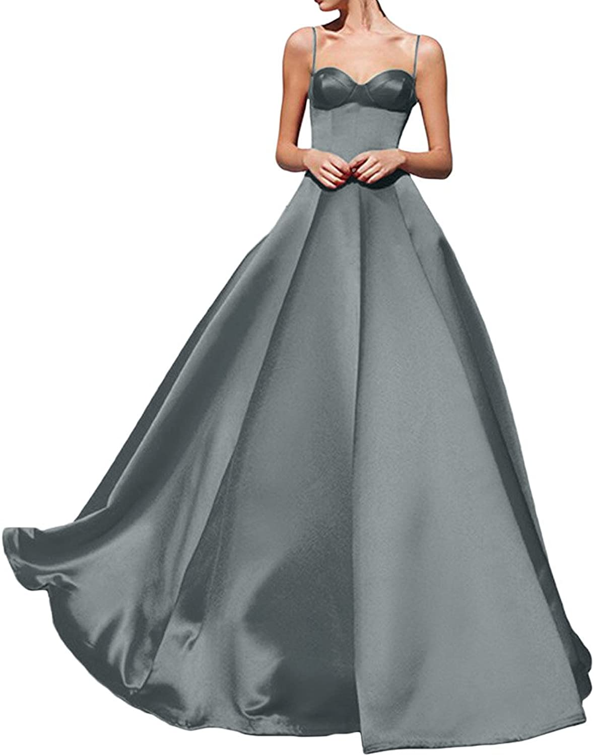 Avril Dress Sexy Spaghhetti Evening Satin Gown Party Prom Dress New