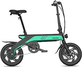 lll 小型折りたたみ式電動自転車、軽量12インチ電動自転車、36V隠しリチウムバッテリーデュアル電動ディスクブレーキ、シティコミューター電動自転車 lll